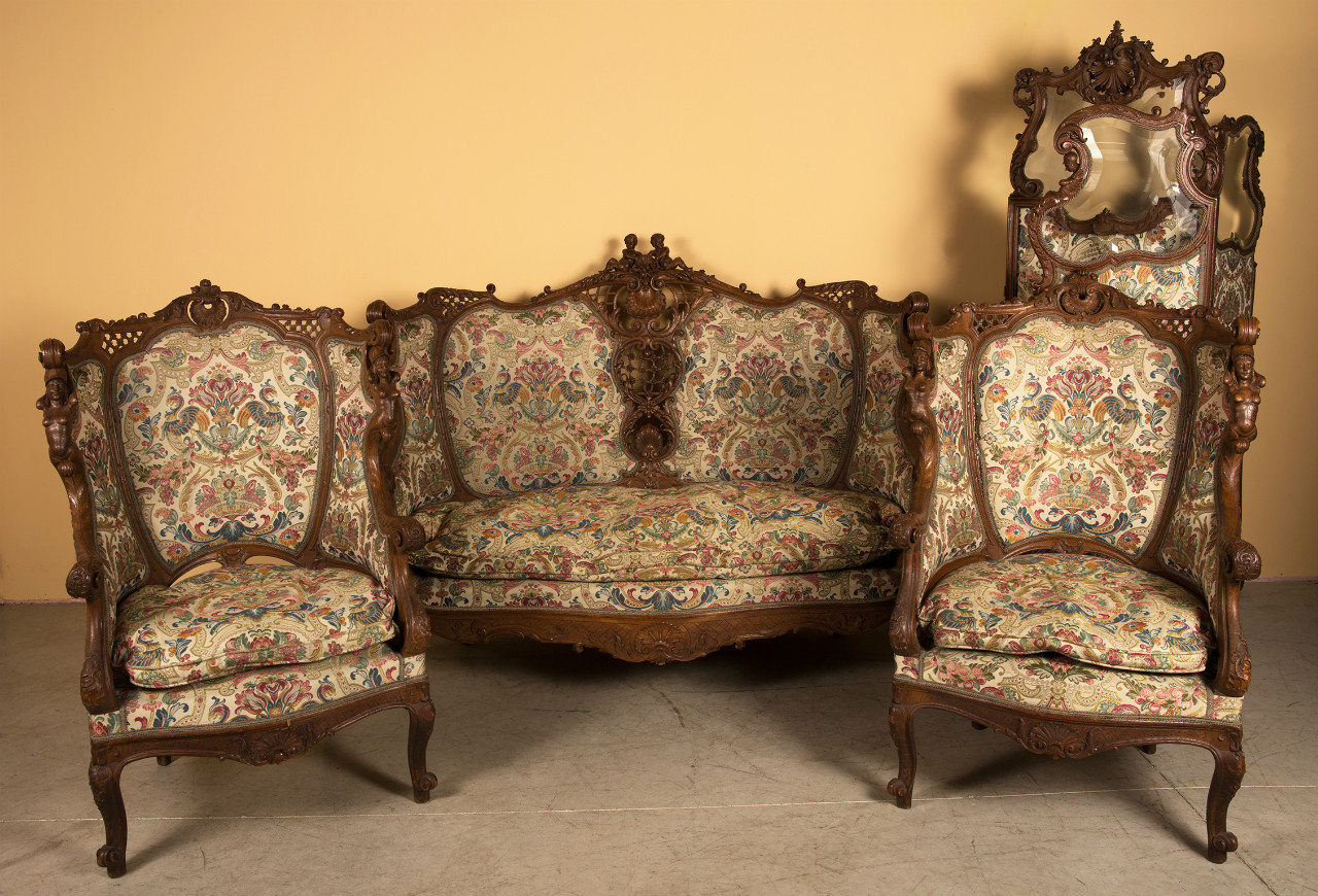 Stupendous Louis Xv Style Salon Suite One Sofa Two Bergeres And One Machost Co Dining Chair Design Ideas Machostcouk