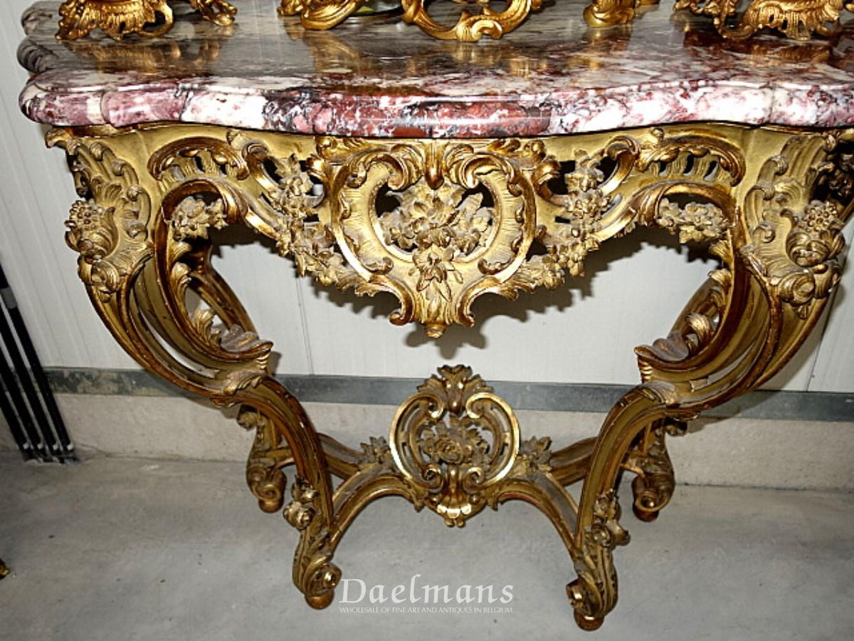 Francois Linke louis XV Style Giltwood Console Table - Furniture ...