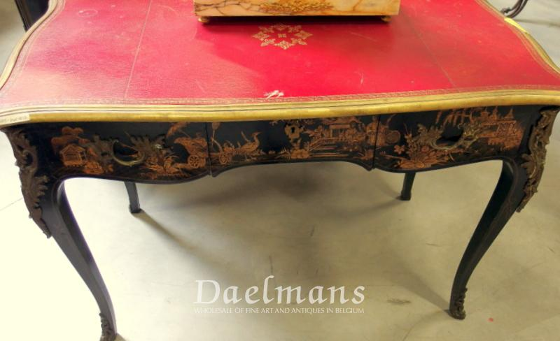 Writing Desk Chinese Lacquer Louis Xv Style France 19th Century Furniture Daelmans