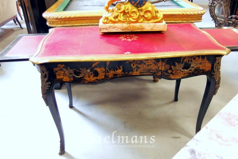 Writing Desk Chinoiserie Lacquer Decoration Louis Xv Style France 19th Century Furniture